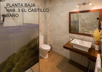 Casa Rural Monfragüe bano el castillo LETRAS