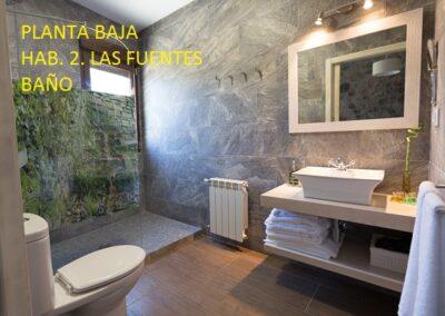 Casa Rural Monfragüe bano las fuentes