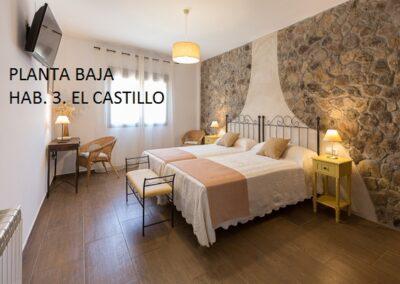 Casa Rural Monfragüe hab el castillo